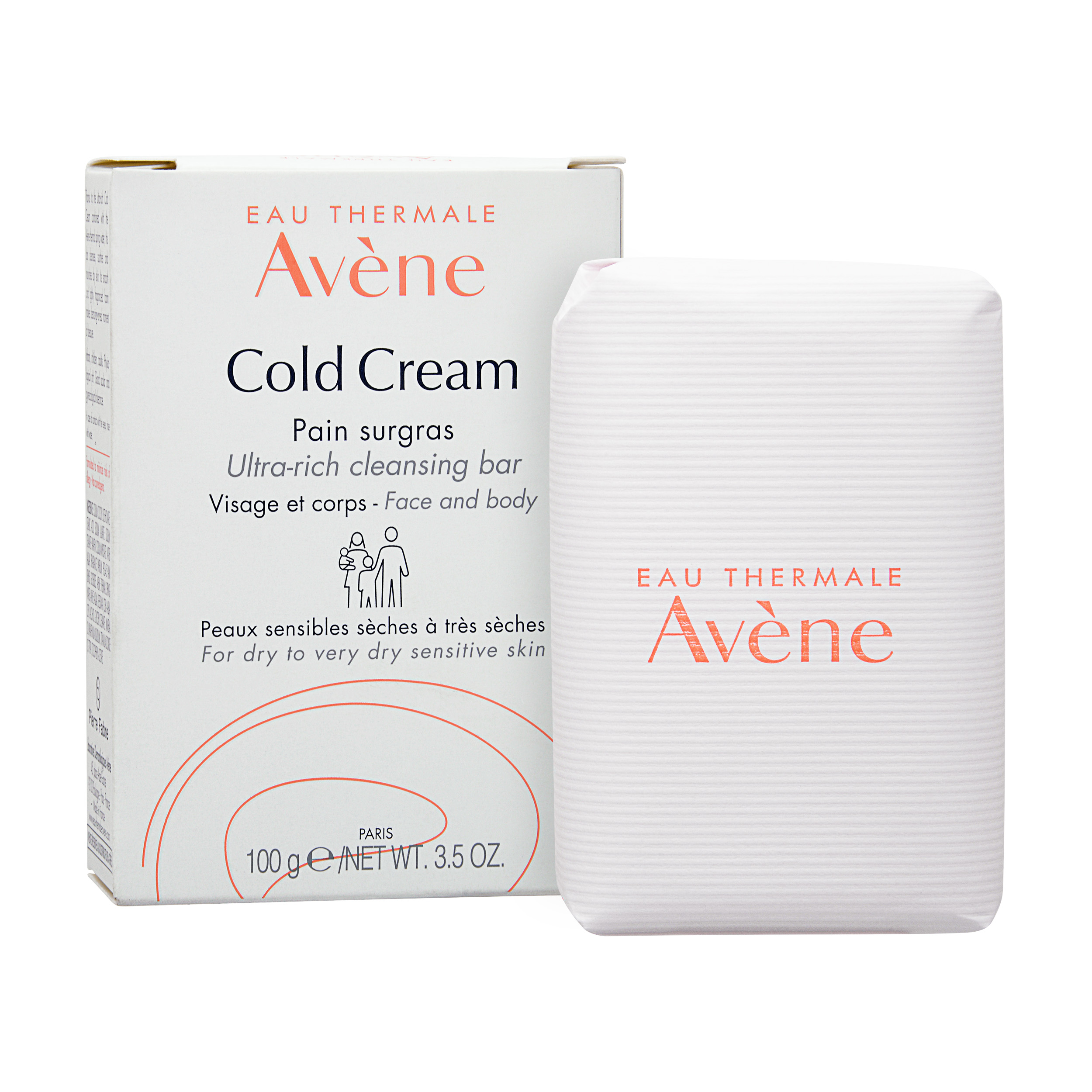 Avène Cold Cream Ultra-Rich Soap-Free Cleansing Bar 100g,
