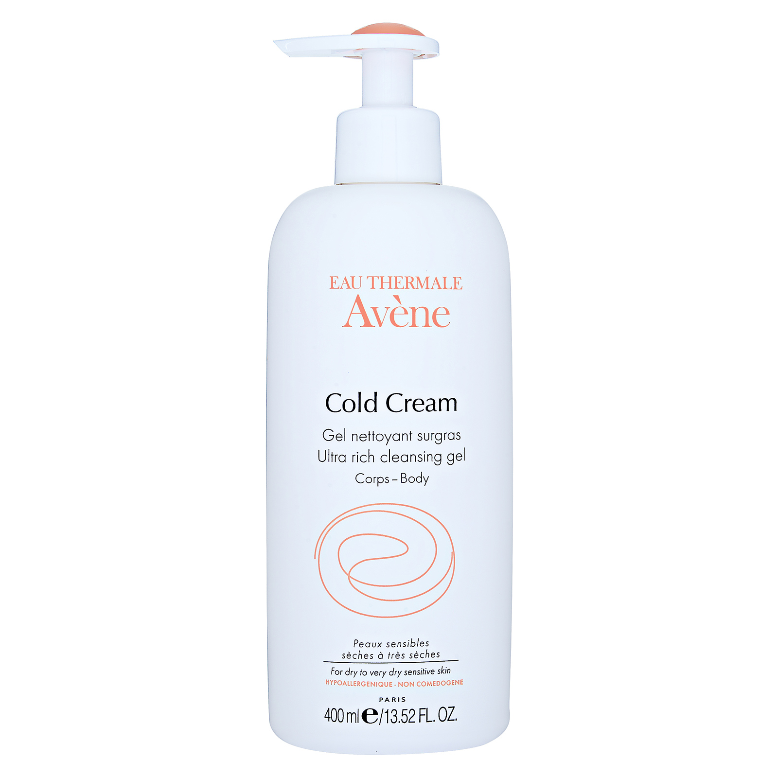 Avène Cold Cream Ultra Rich Cleansing Gel (Body) 13.52oz, 400ml