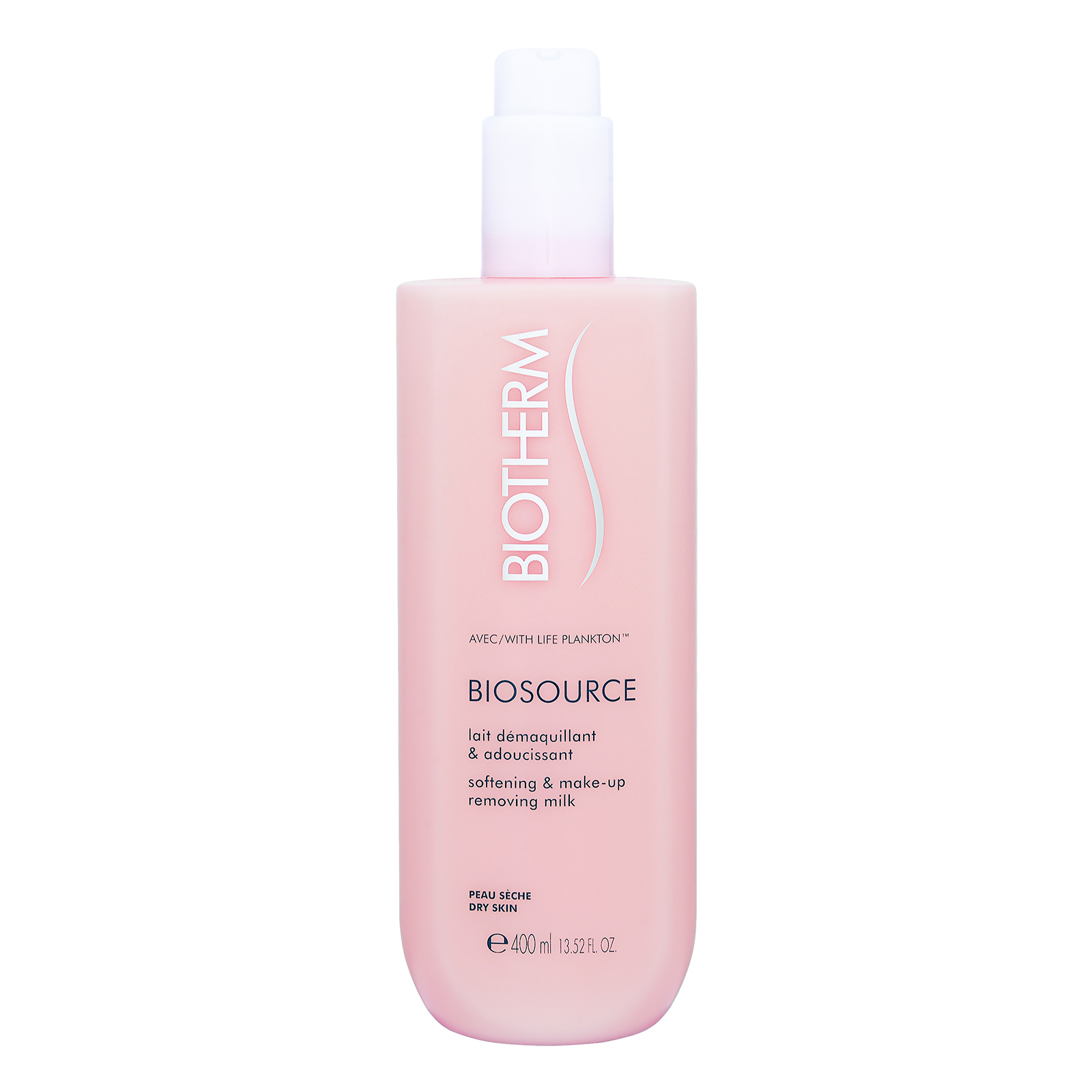 Biotherm Biosource  Softening & Make-Up Removing Milk (Dry Skin) 13.52oz, 400ml from Cosme-De.com