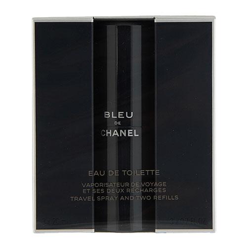 Chanel Bleu de Chanel EDT (Travel Spray and Two Refills) 3 x 0.7oz, 3 x 20ml  men