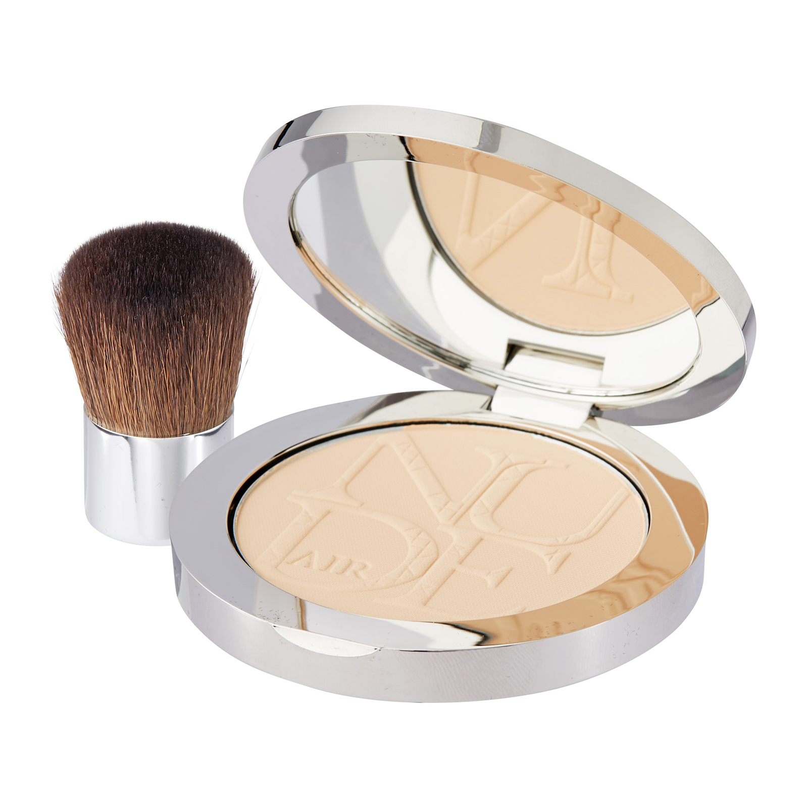Christian Dior DiorSkin Nude Air Healthy Glow Invisible Powder With Kabuki Brush 020 Light Beige, 0.35oz, 10g