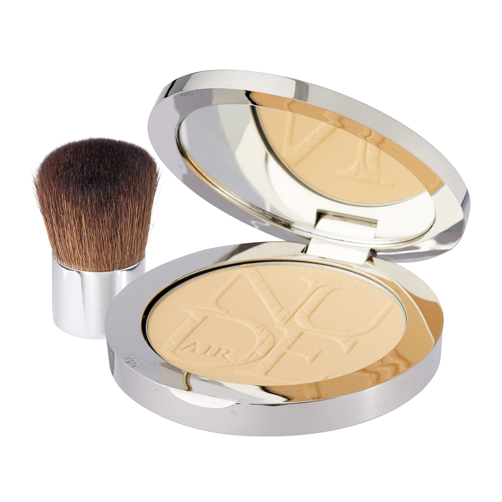 Christian Dior DiorSkin Nude Air  Healthy Glow Invisible Powder With Kabuki Brush 021 Linen, 0.35oz, 10g