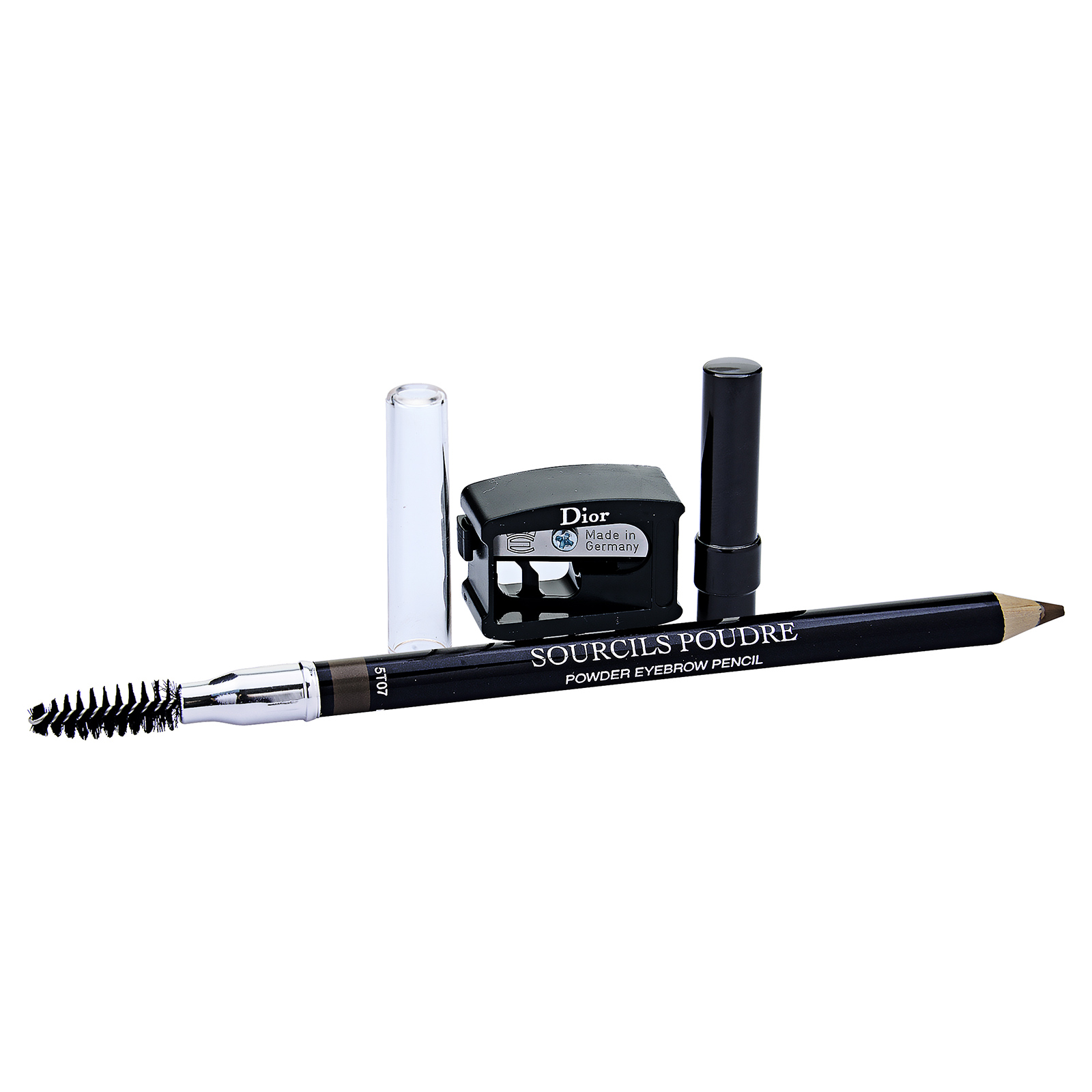 Christian Dior  Sourcils Poudre Powder Eyebrow Pencil (With Brush And Sharpener) 593 Brun Brown, 0.04oz, 1.2g