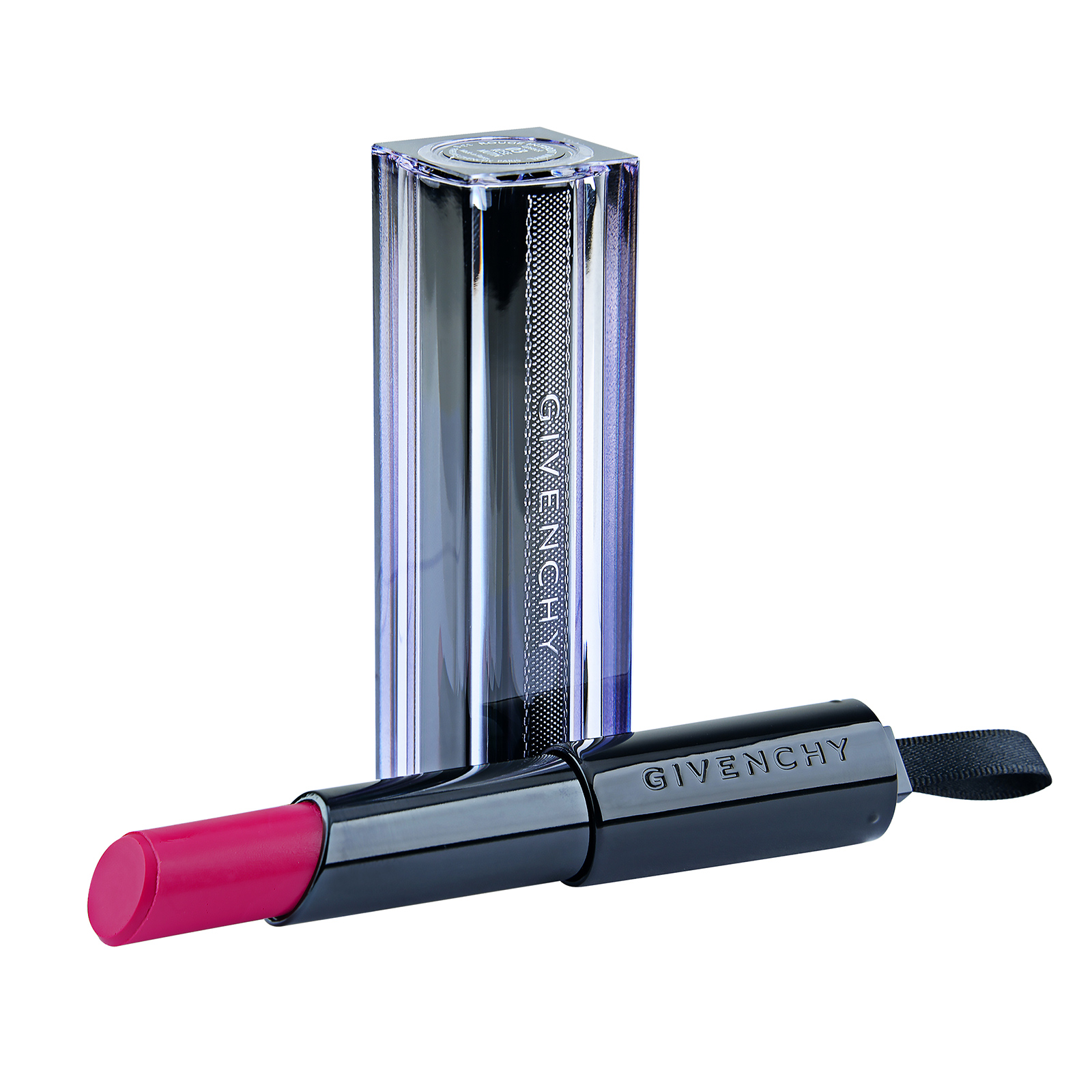 Givenchy  Rouge Interdit Vinyl Extreme Shine Lipstick Illicit Color 07 Fuchsia Illicite, 0.11oz, 3.3g
