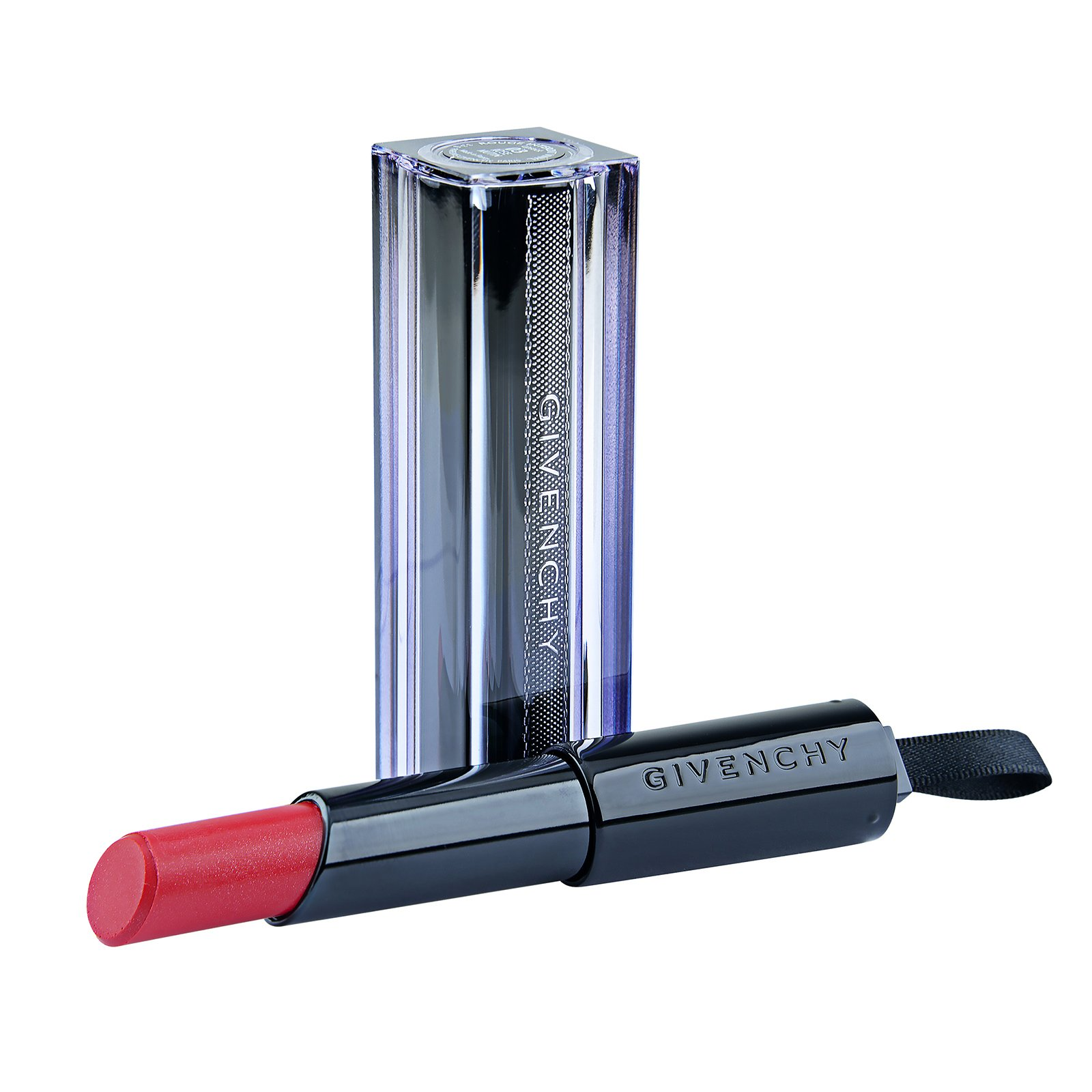 Givenchy  Rouge Interdit Vinyl Extreme Shine Lipstick Illicit Color 10 Rouge Provocant, 0.11oz, 3.3g