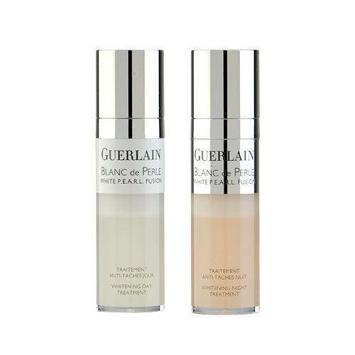 Guerlain Blanc De Perle  White P.E.A.R.L. Whitening Day & Night Treatment  2 x 0.5 oz, 2 x 15ml