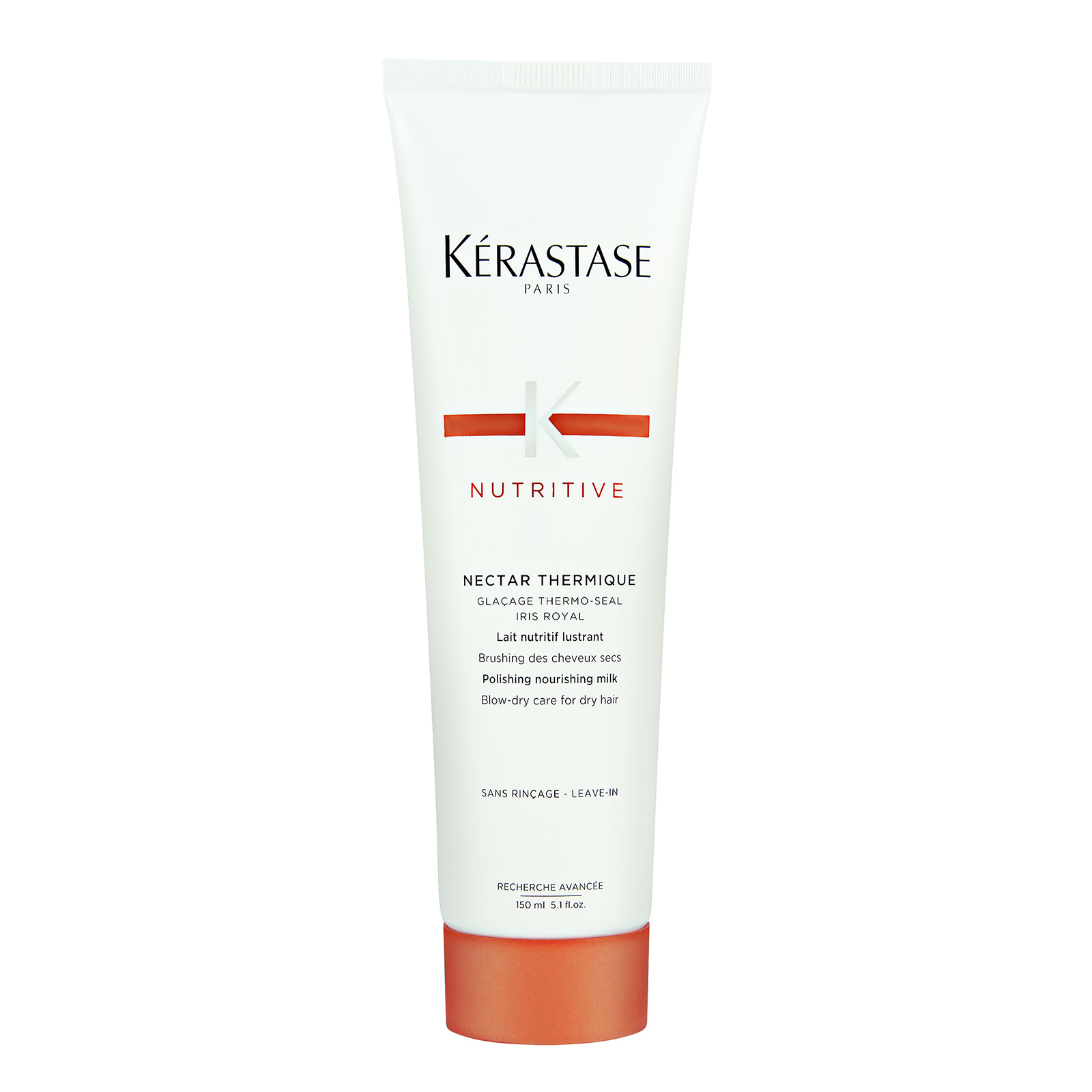 Kérastase Paris Nutritive  Nectar Thermique Polishing Nourishing Milk (Blow Dry Care for Dry Hair) 5.1oz, 150ml