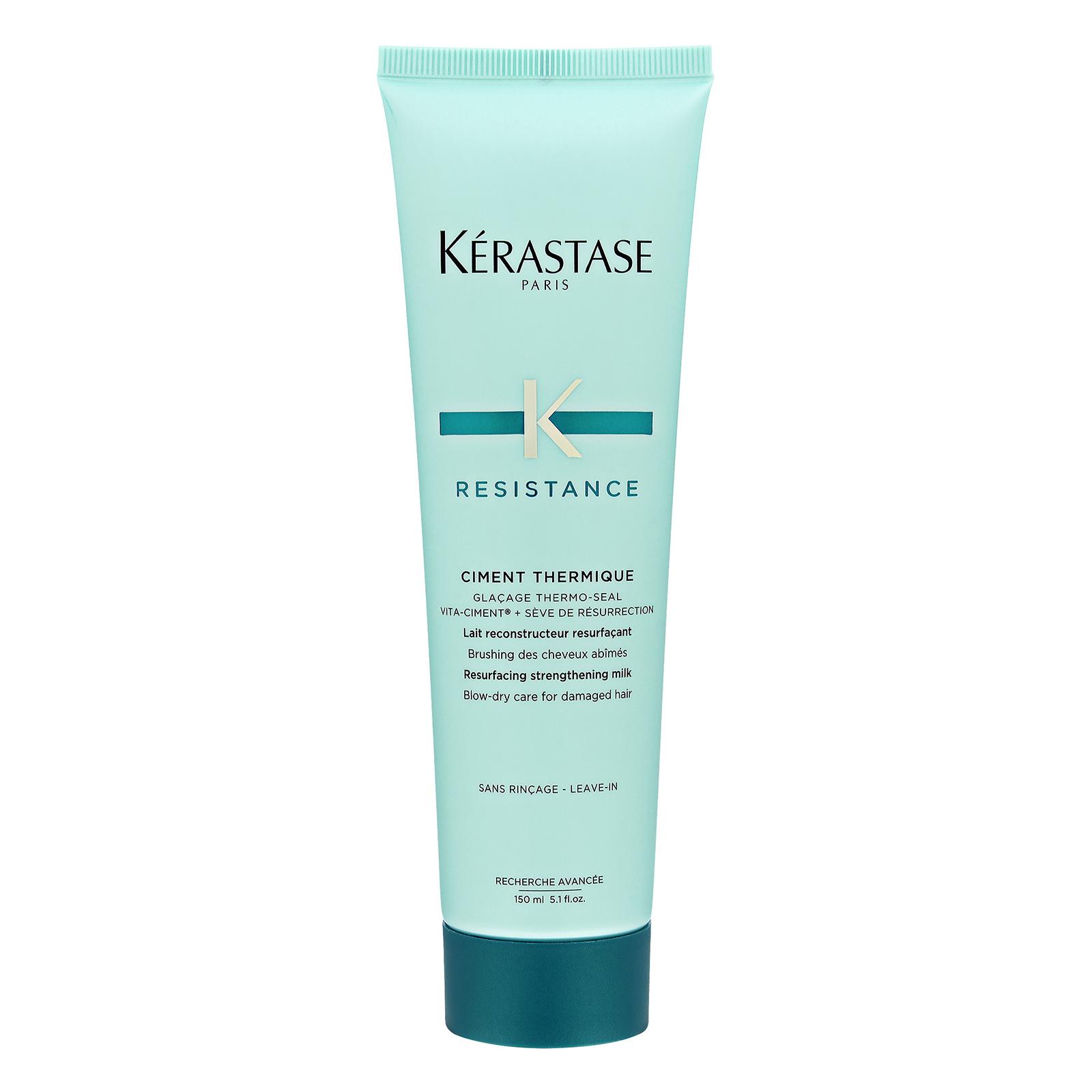 Kérastase Paris Resistance Ciment Thermique Resurfacing Strengthening Milk Blow-Dry Care (For Damaged Hair)  5.1oz, 150ml