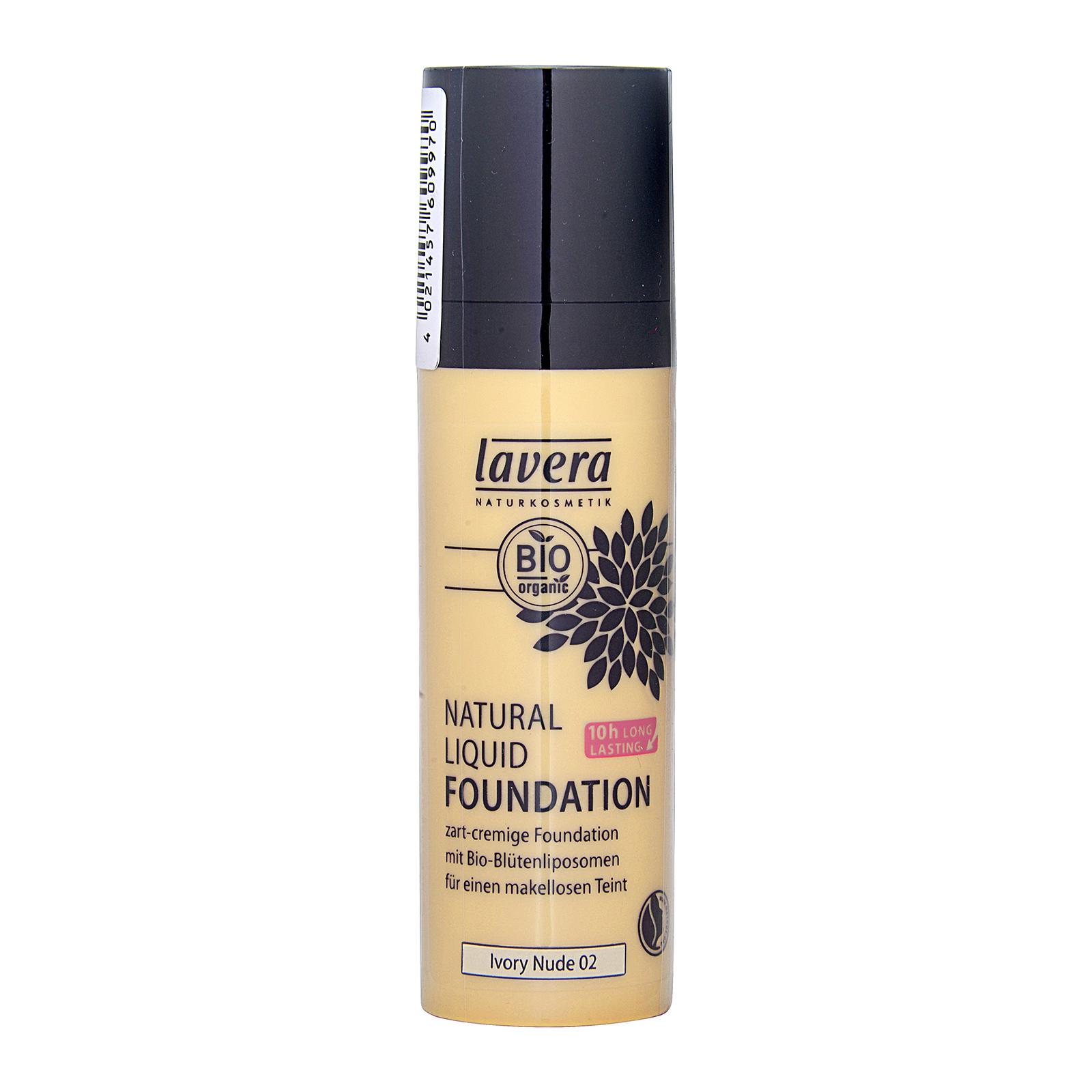 Lavera  Natural Liquid Foundation Lvory Nude 02, 30ml, LVX0100188-002-00