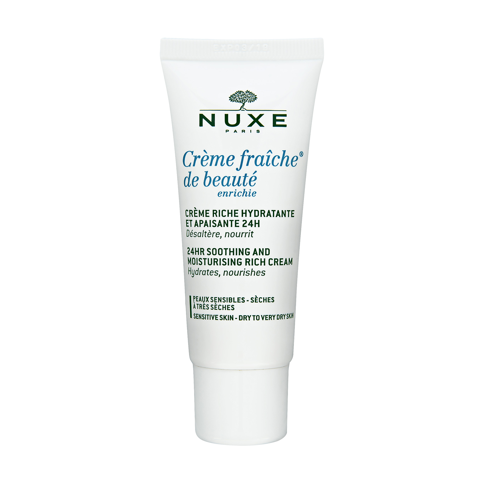 NUXE 24HR Soothing and Moisturizing Rich Cream 1oz, 30ml