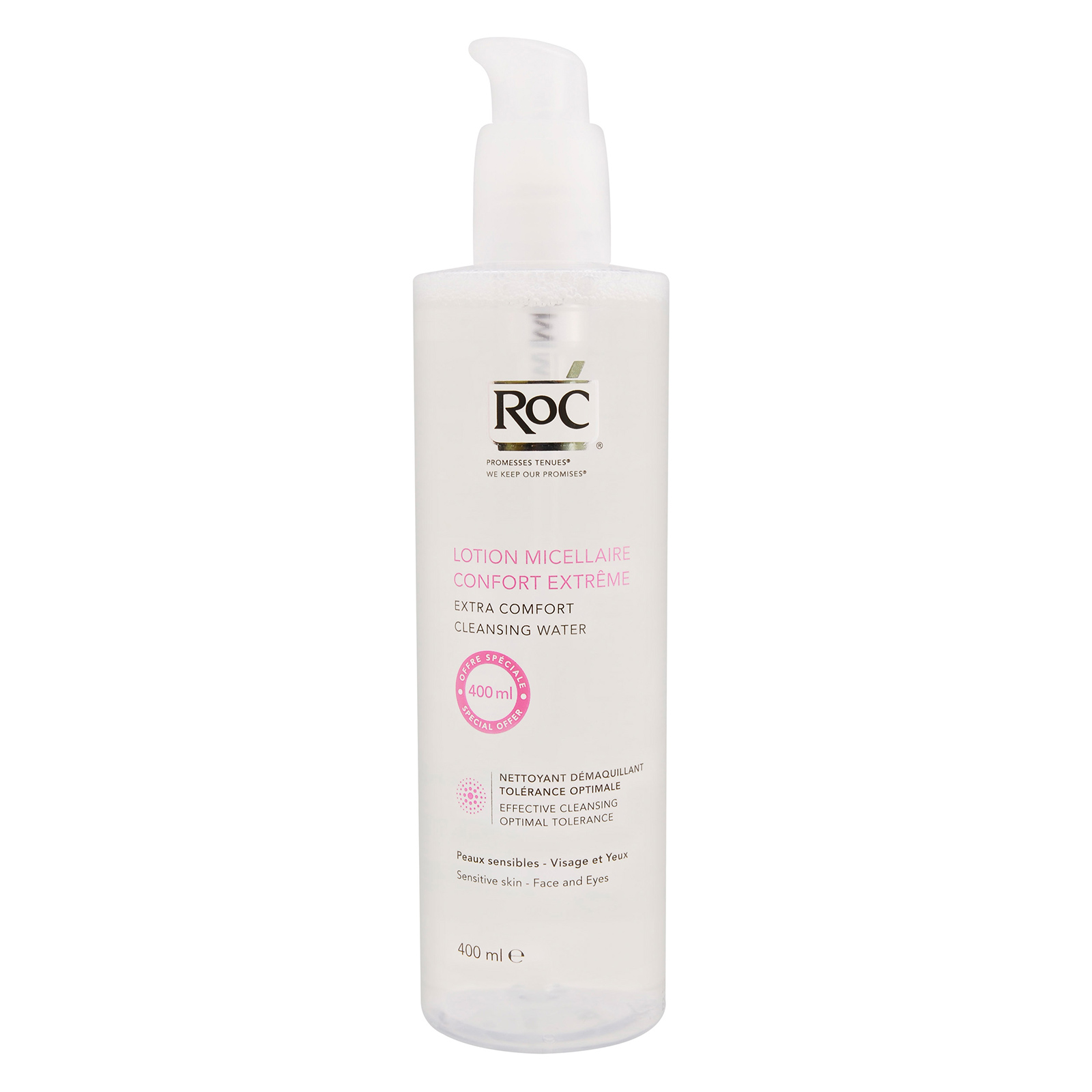 RoC Cleansers Extreme Extra Comfort Cleansing Water (For Sensitive Skin) 400ml, RCX0100071-000-00
