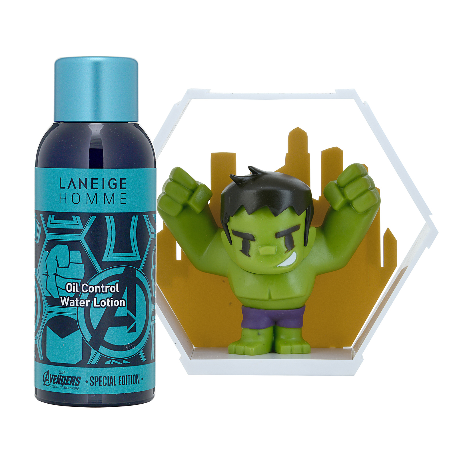 Laneige Homme Homme Oil Control Water Lotion Set with Hulk figure  1set, 2pcs ALN0100187-000-00