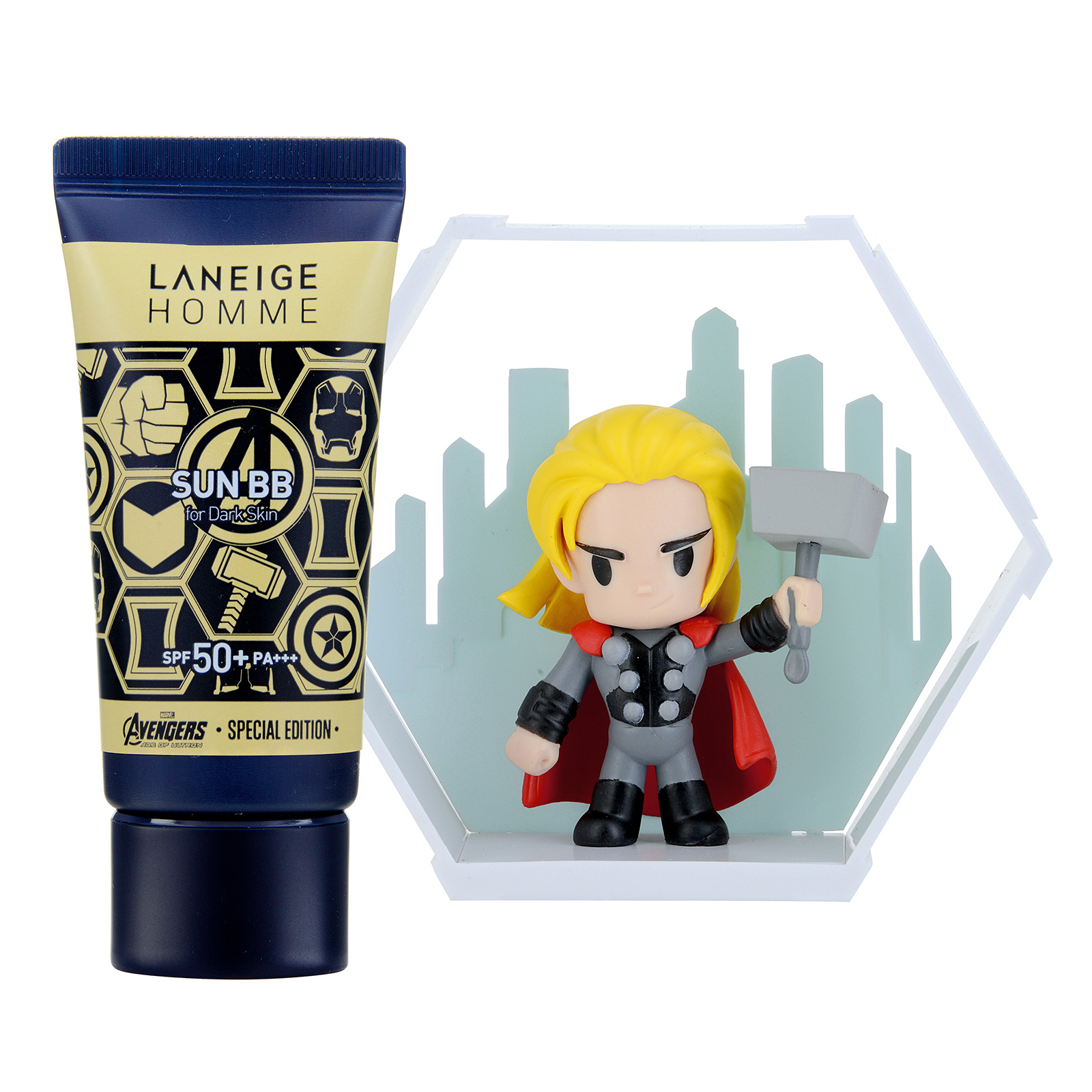 Laneige Homme Homme Sun BB SPF50+ / PA+++ Set with Thor Figure (For Dark Skin) 1set, 2pcs
