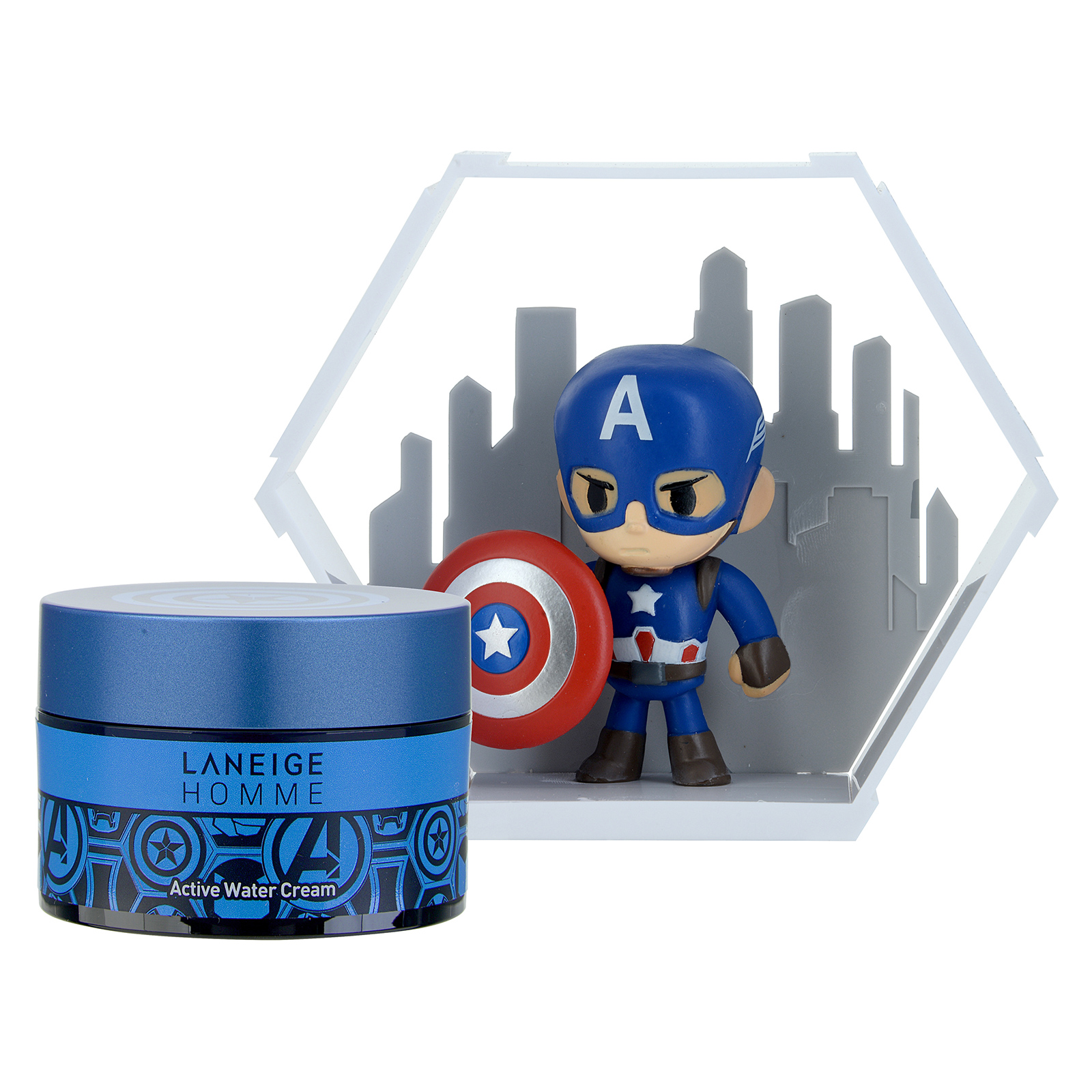 Laneige Homme Homme Active Water Cream Set with Captain America Figure  1set, 2pcs ALN0100186-000-00