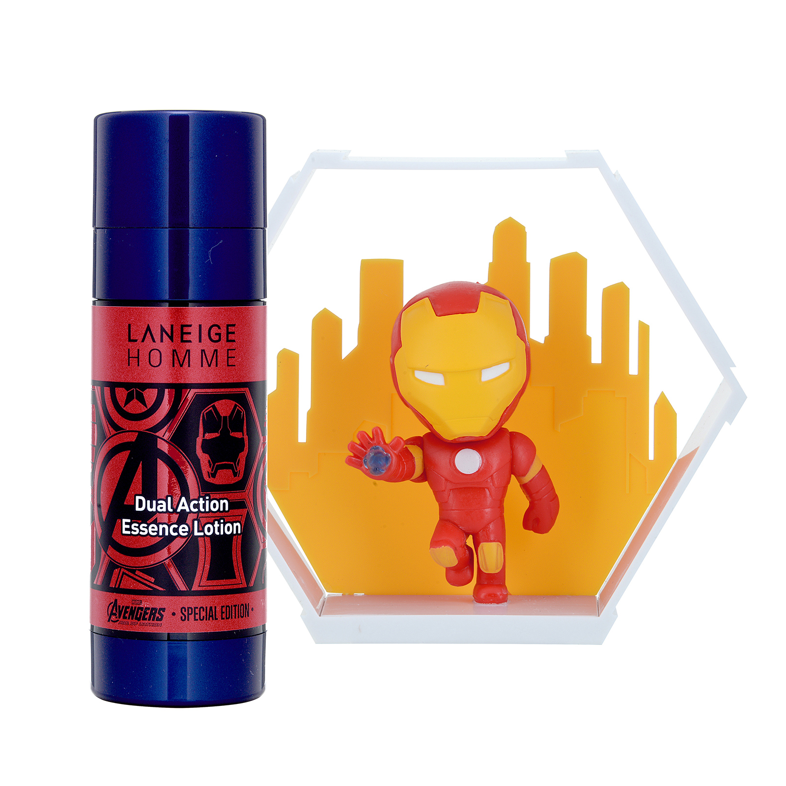Laneige Homme Homme Dual Action Essence Lotion Set with Iron Man Figure 1set, 2pcs ALN0100188-000-00