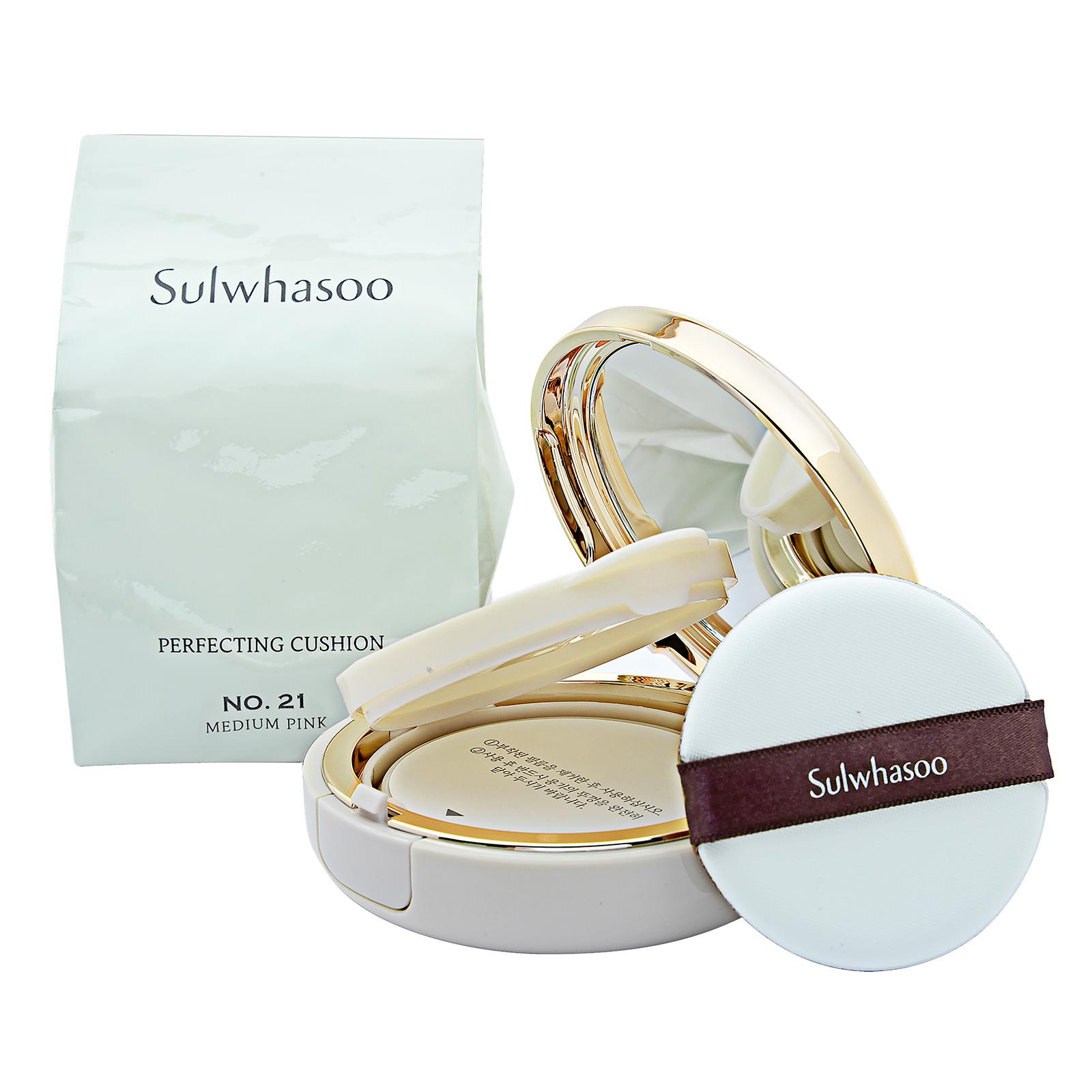 Sulwhasoo Perfecting Cushion SPF50+ / PA+++ No. 21 Medium Pink, 2 x 15g,