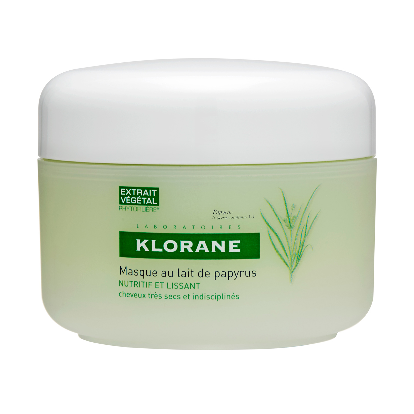 Klorane  Mask With Papyrus Milk - Nourishing & Smoothing (Dry and Unruly Hair) 5.07oz, 150ml