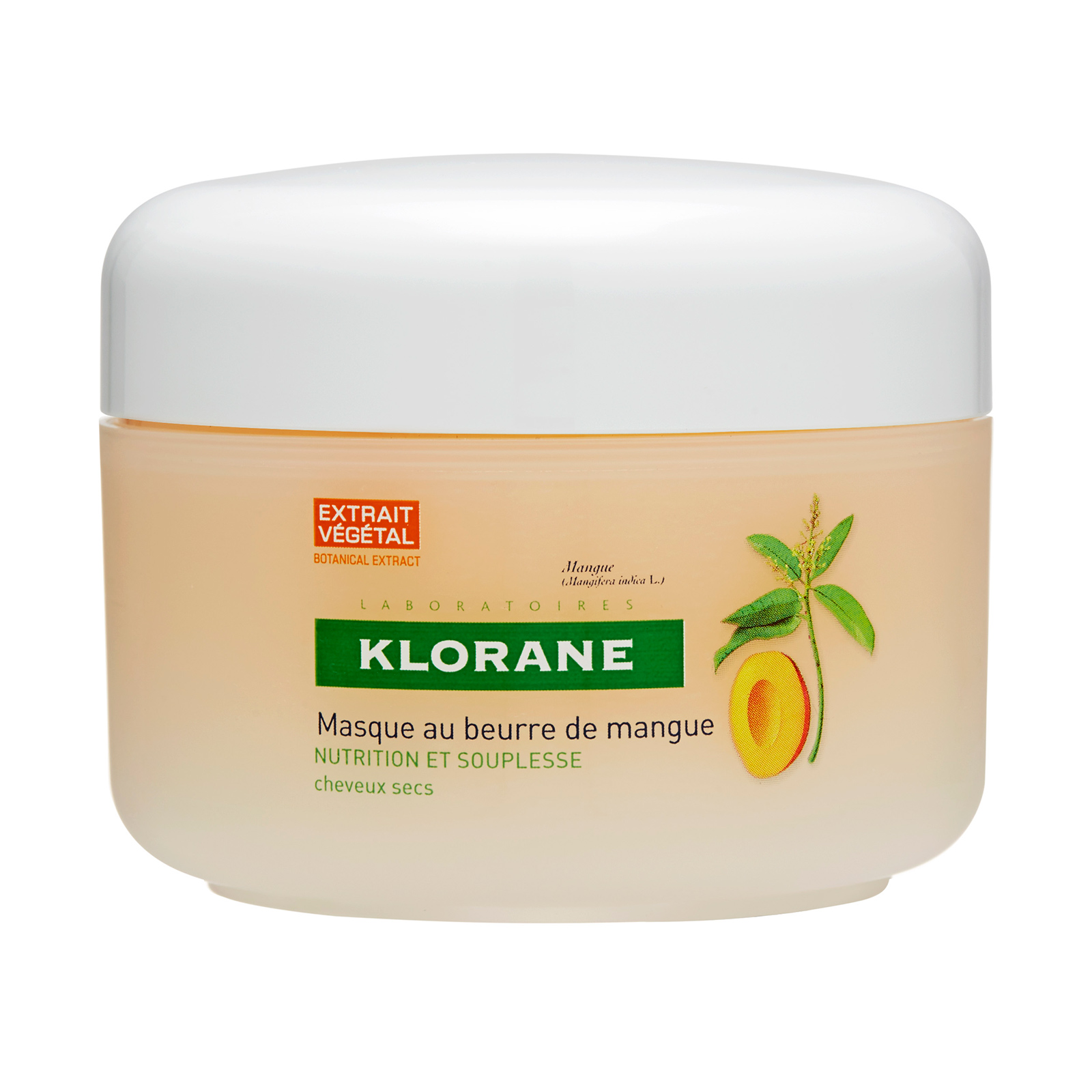 Klorane  Mask With Mango Butter - Nourishing & Hydration (Dry Hair) 5.07oz, 150ml