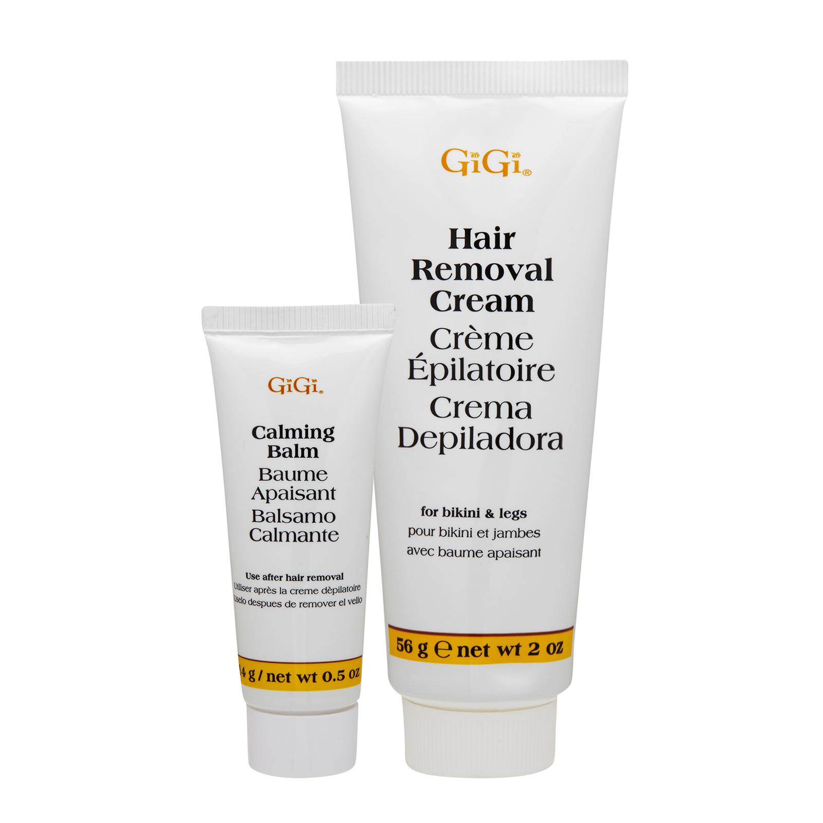GiGi  Hair Removal Cream For Bikini & Legs 0.5 + 2oz, 14 + 56g GIX0100007-000-00