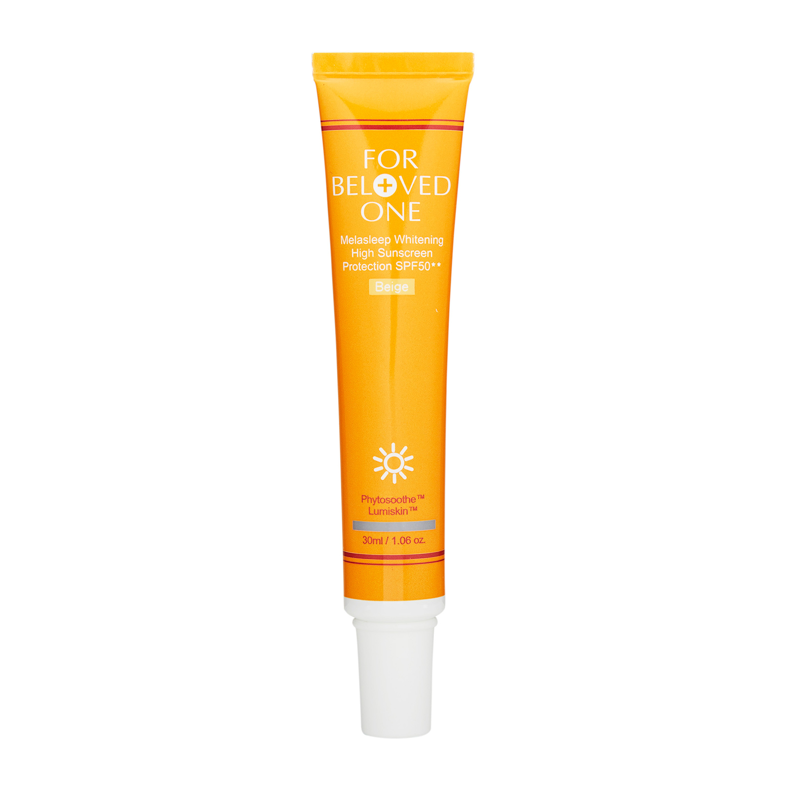 For Beloved One Melasleep Whitening  High Sunscreen Protection SPF50++ Beige, 1.06oz, 30ml