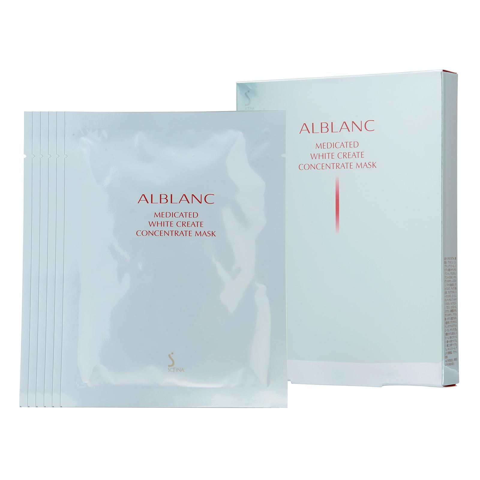 SOFINA Alblanc  Medicated White Create Concentrate Mask 1box, 6pcs