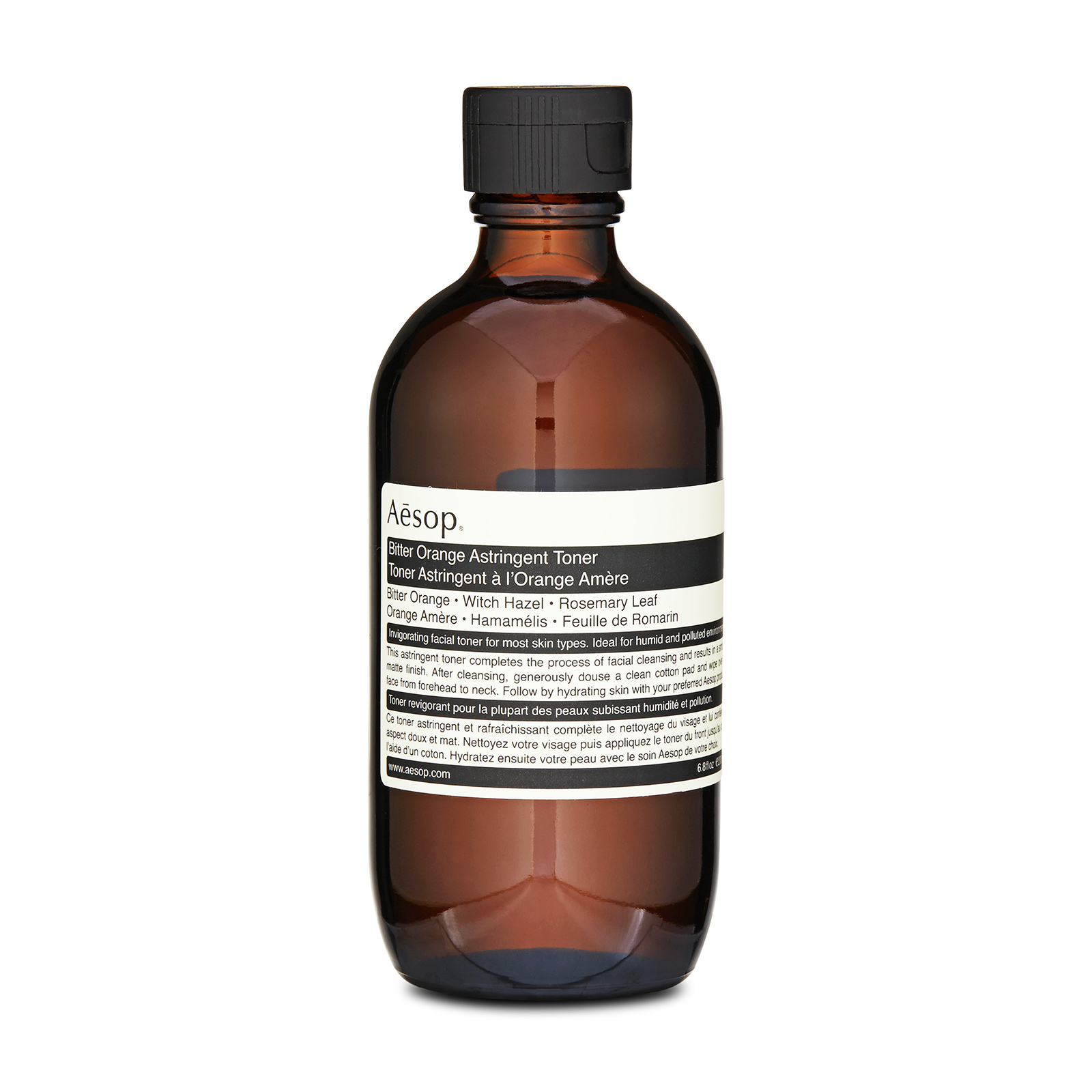 Aesop Bitter Orange Astringent Toner has the following features:This gentle yet astringent citrus-based formulation thoroughly cleanses the skin of sweat and grime, to leave it balanced, refreshed and prepared for hydration. Ideal to deal with any environmental changes or hormonal changes to your skin, however, it can be used for any skin type. The refreshing qualities of this toner are perfect for giving your skin a lift and will help to balance the skin as well as bring out the excess sebum and remove impurities from its surface.