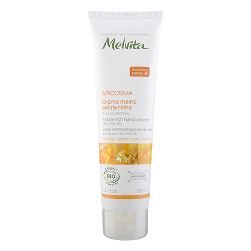 Melvita Apicosma Extra-Rich Hand Cream with 3 Honeys (Dry Hands) 5.1oz, 150ml