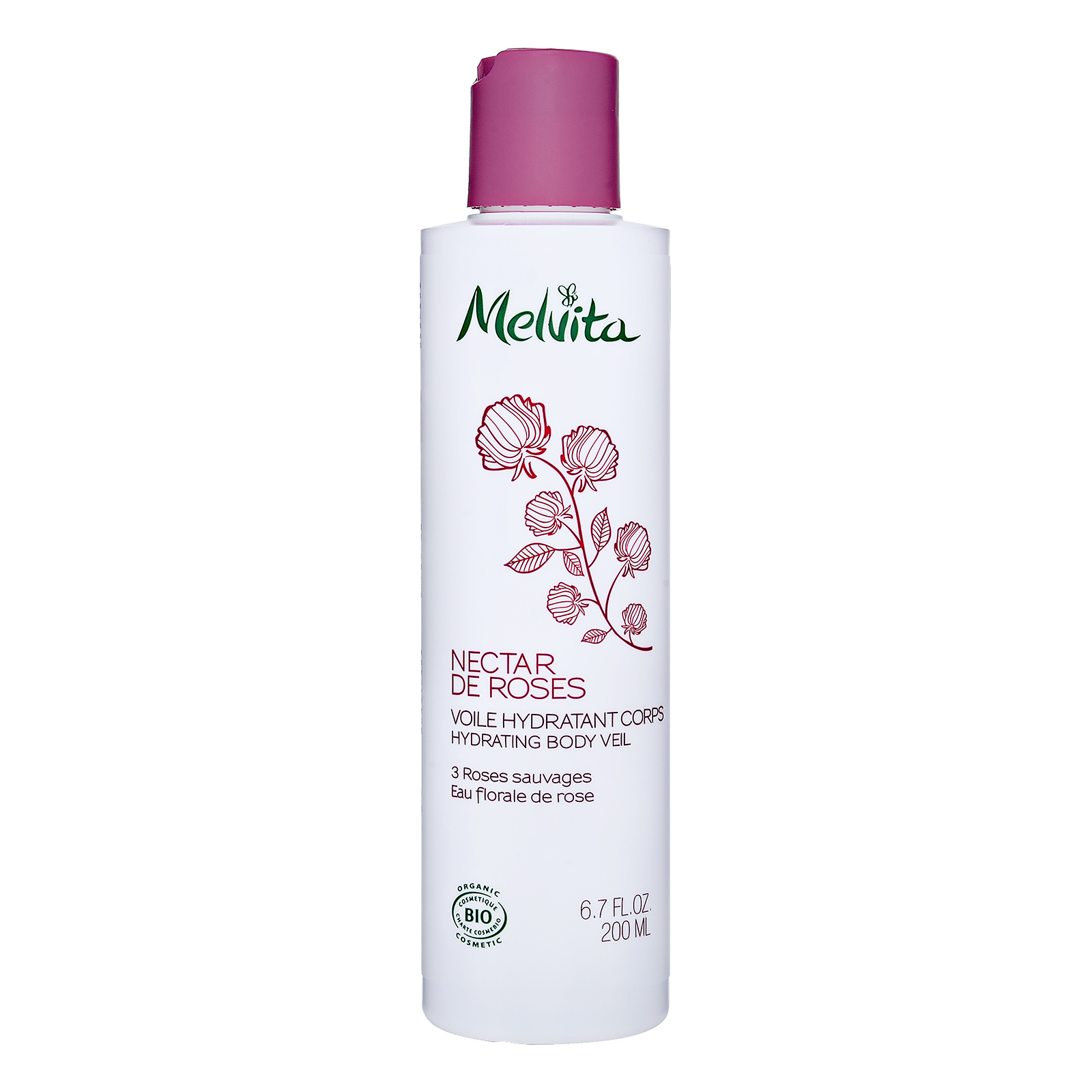 Melvita Nectar de Roses Hydrating Body Veil 6.7oz, 200ml