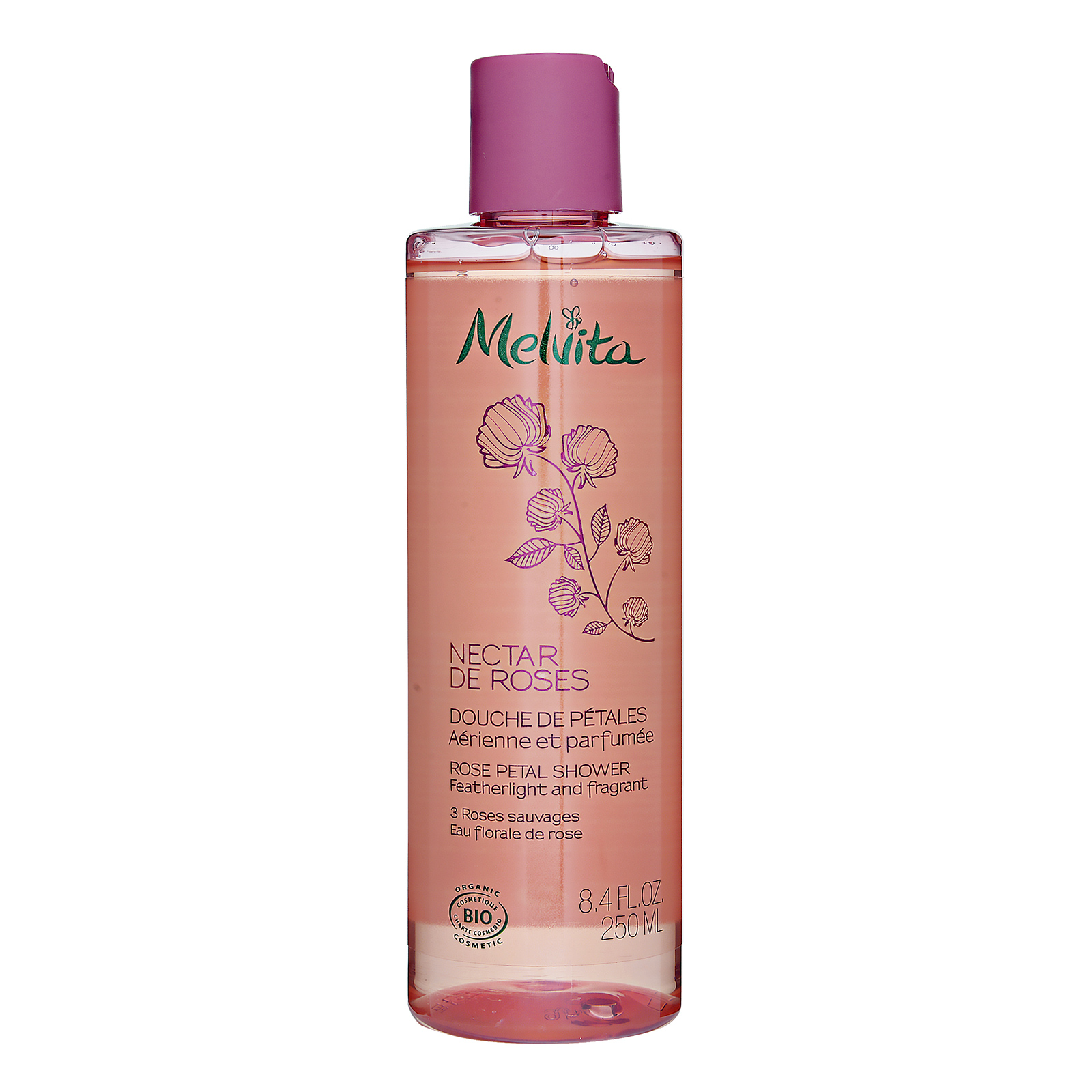 Melvita Nectar de Roses Rose Petal Shower 8.4oz, 250ml