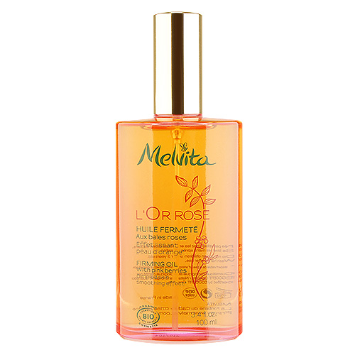 Melvita  L'OR Rose Firming Oil with Pink Berries 3.4oz, 100ml from Cosme-De.com
