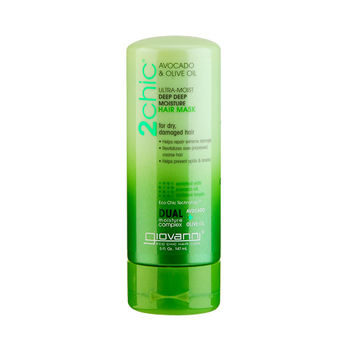 Giovanni 2chic Ultra-Moist Avocado & Olive Oil Deep Deep Moisture Hair Mask (For Dry And Damaged Hair) 5oz, 147ml