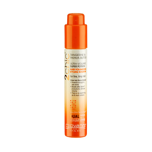 Giovanni 2chic Ultra Volume Tangerine & Papaya Butter Super Potion Hair Volumizing Styling Booster (For Fine And Limp Hair) 1.8oz, 53ml