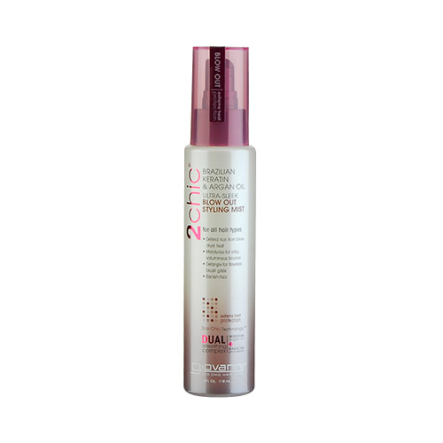 Giovanni 2chic Ultra-Sleek Brazilian Keratin & Argan Oil Blow Out Styling Mist (For All Hair Types) 4oz, 118ml