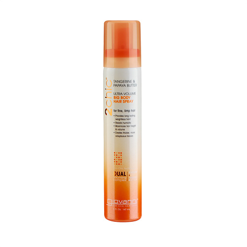 Giovanni 2chic Ultra Volume Tangerine & Papaya Butter Big Body Hair Spray (For Fine And Limp Hair) 5oz, 147ml