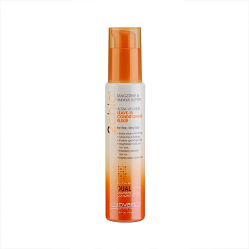 Giovanni 2chic Ultra Volume Tangerine & Papaya Butter Leave-In Conditioning Elixir (For Fine And Limp Hair) 4oz, 118ml