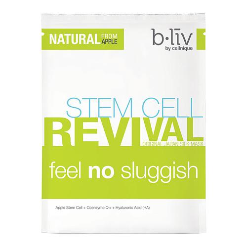 b.liv Japan Silk Mask Stem Cell Revival Feel No Sluggish 7pcs, 1box