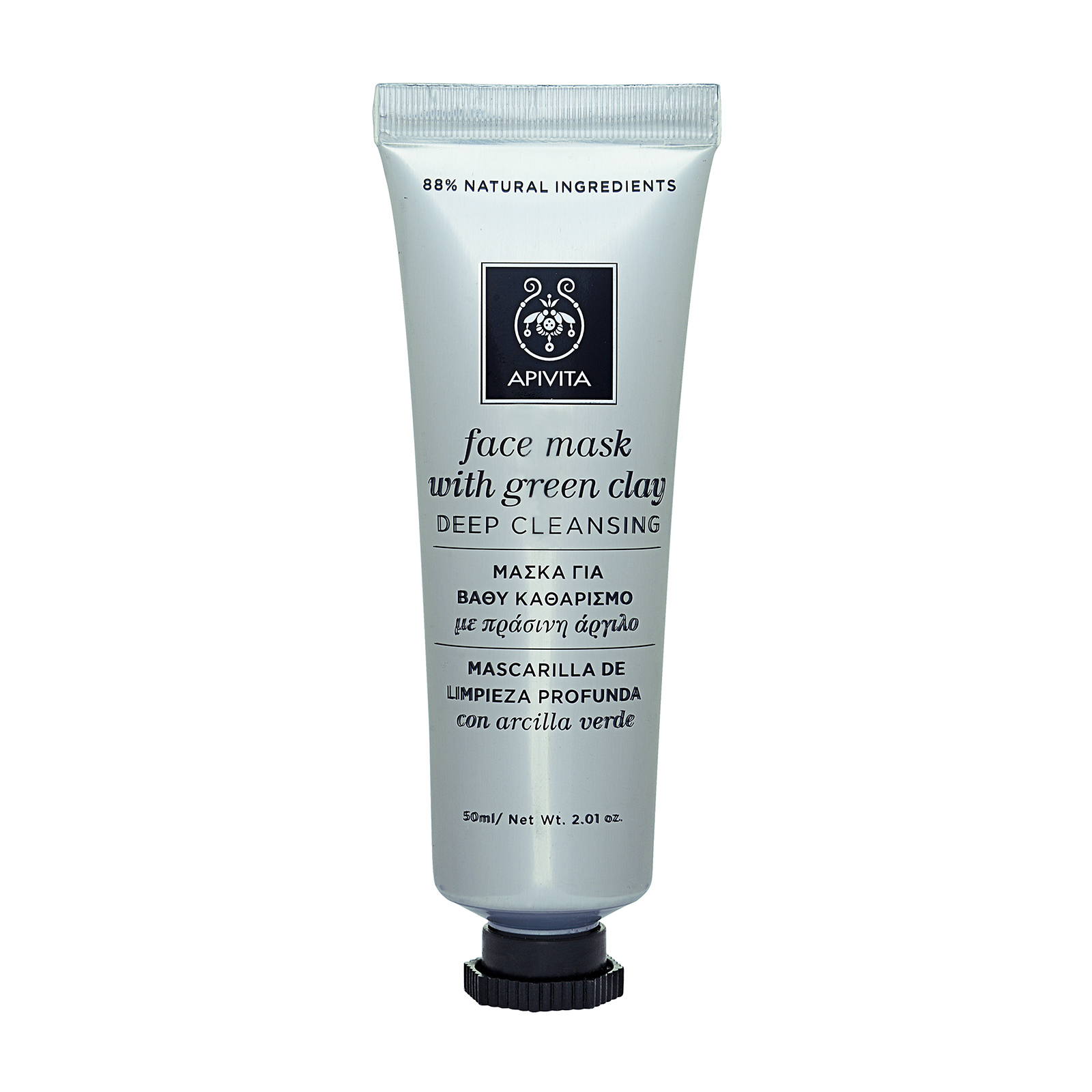APIVITA  Deep Cleansing Face Mask with Green Clay (For Oily and Combination Skin)  2.01oz, 50ml from Cosme-De.com