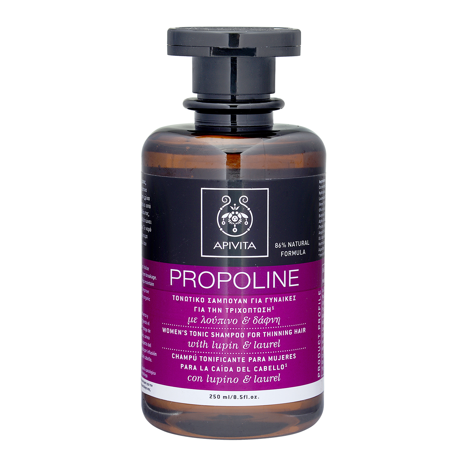 APIVITA Propoline Women's Tonic Shampoo for Thinning Hair with Lupin & Rosemary  8.5oz, 250ml
