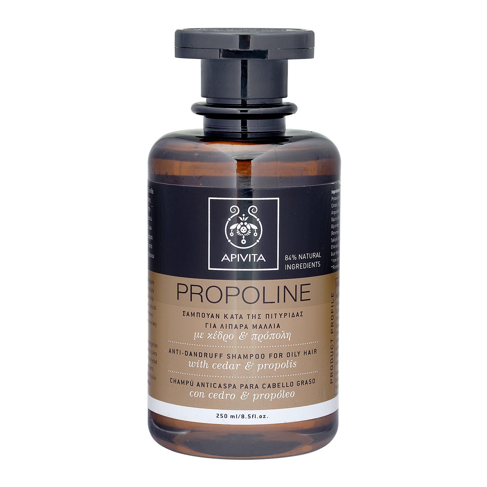 APIVITA Propoline Anti-Dandruff Shampoo For Oily Hair with Cedar & Propolis 8.5oz, 250ml from Cosme-De.com