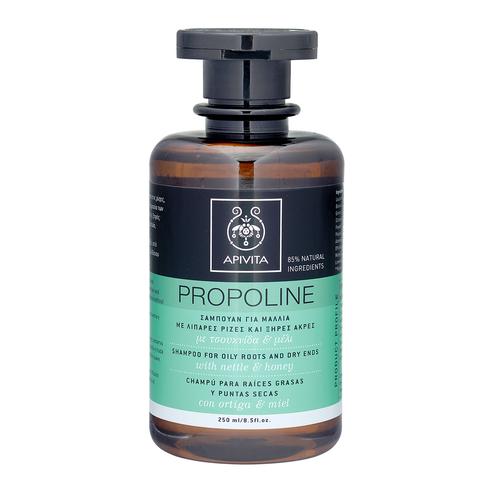 APIVITA Propoline Shampoo for Oily Roots and Dry Ends with Nettle & Honey 8.5oz, 250ml