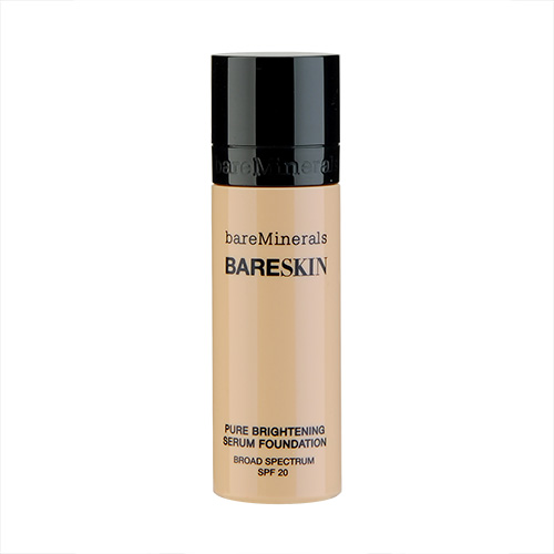 bareMinerals Bareskin Pure Brightening Serum Foundation Broad Spectrum SPF 20 Bare Satin 06, 1oz, 30ml