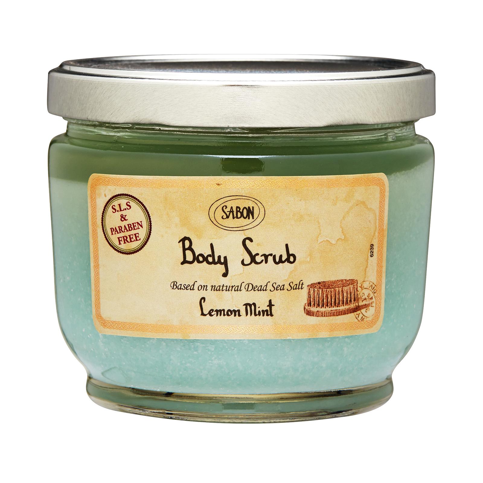 Sabon Body Scrub Lemon Mint, 21.2oz, 600g