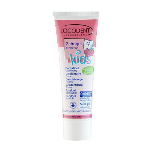 LOGONA Kids  Strawberry Dental Gel 1.7oz, 50ml