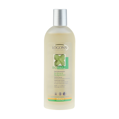 LOGONA Bio Mint & Witch Hazel Facial Toner 4.2oz, 125ml