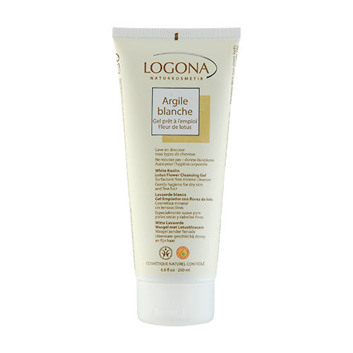 LOGONA White Kaolin  Lotus Flower Cleansing Gel (For Dry Skin and Fine Hair) 6.8oz, 200ml