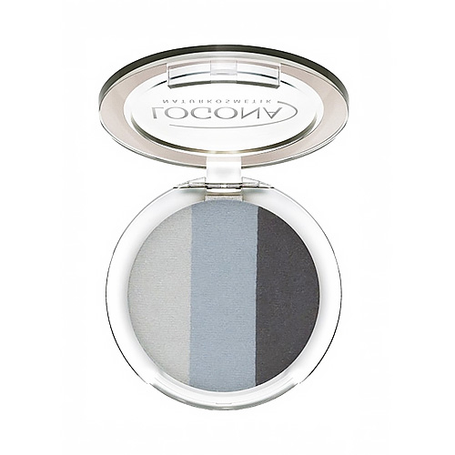 LOGONA Eyeshadow Trio 01 Smokey, 0.141ozoz, 4g
