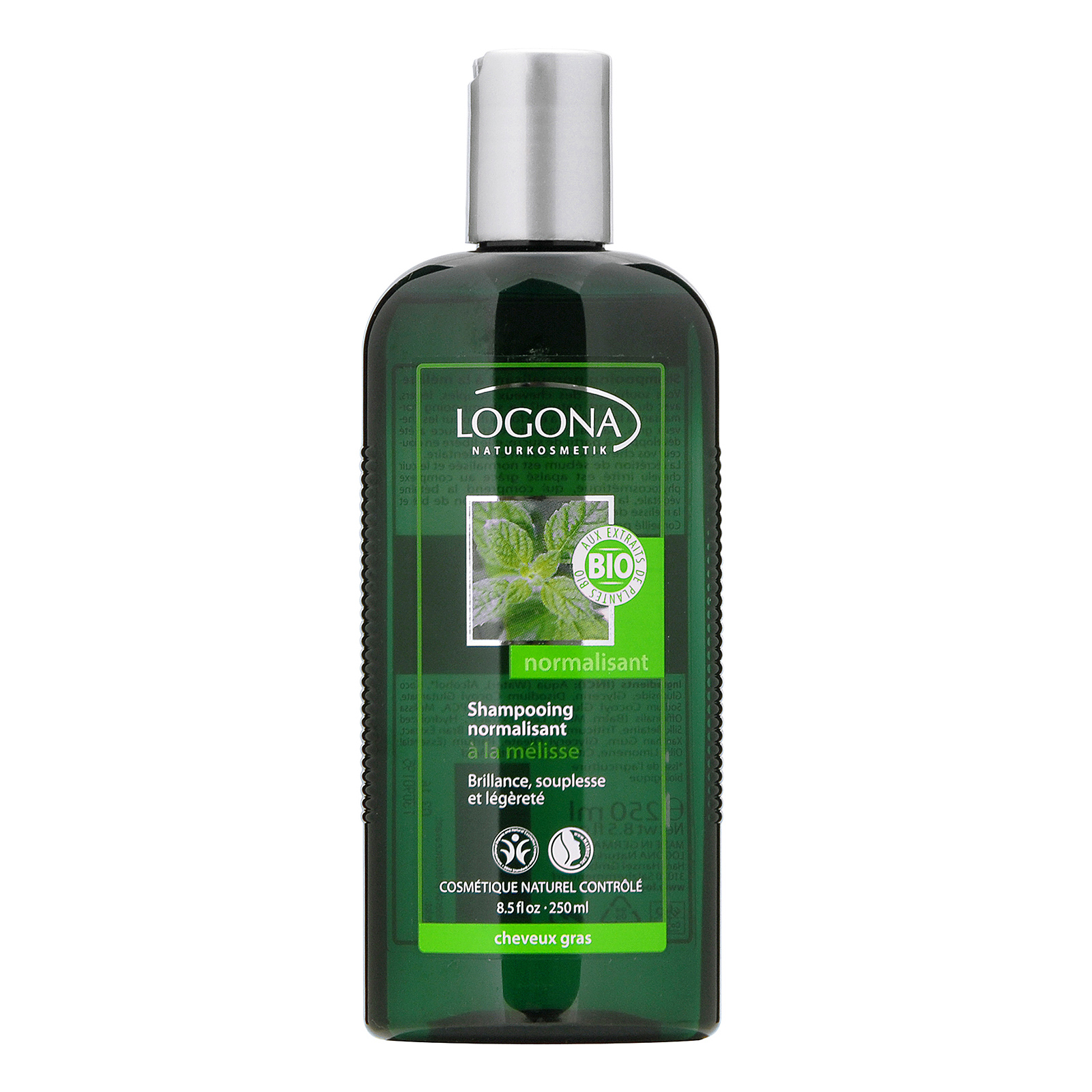 LOGONA  Lemon Balm Balance Shampoo (For Oily Hair & Scalp) 8.5oz, 250ml
