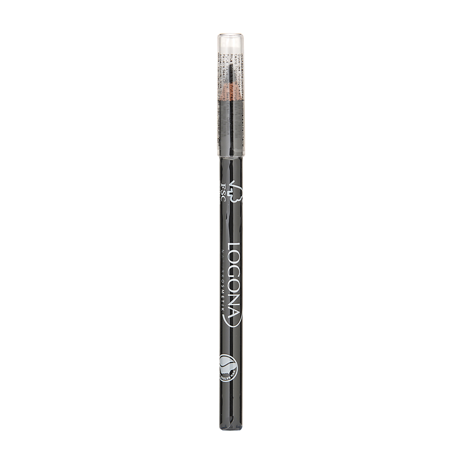 LOGONA  Eyeliner Pencil 01 Deep Black, 0.04oz, 1.14g