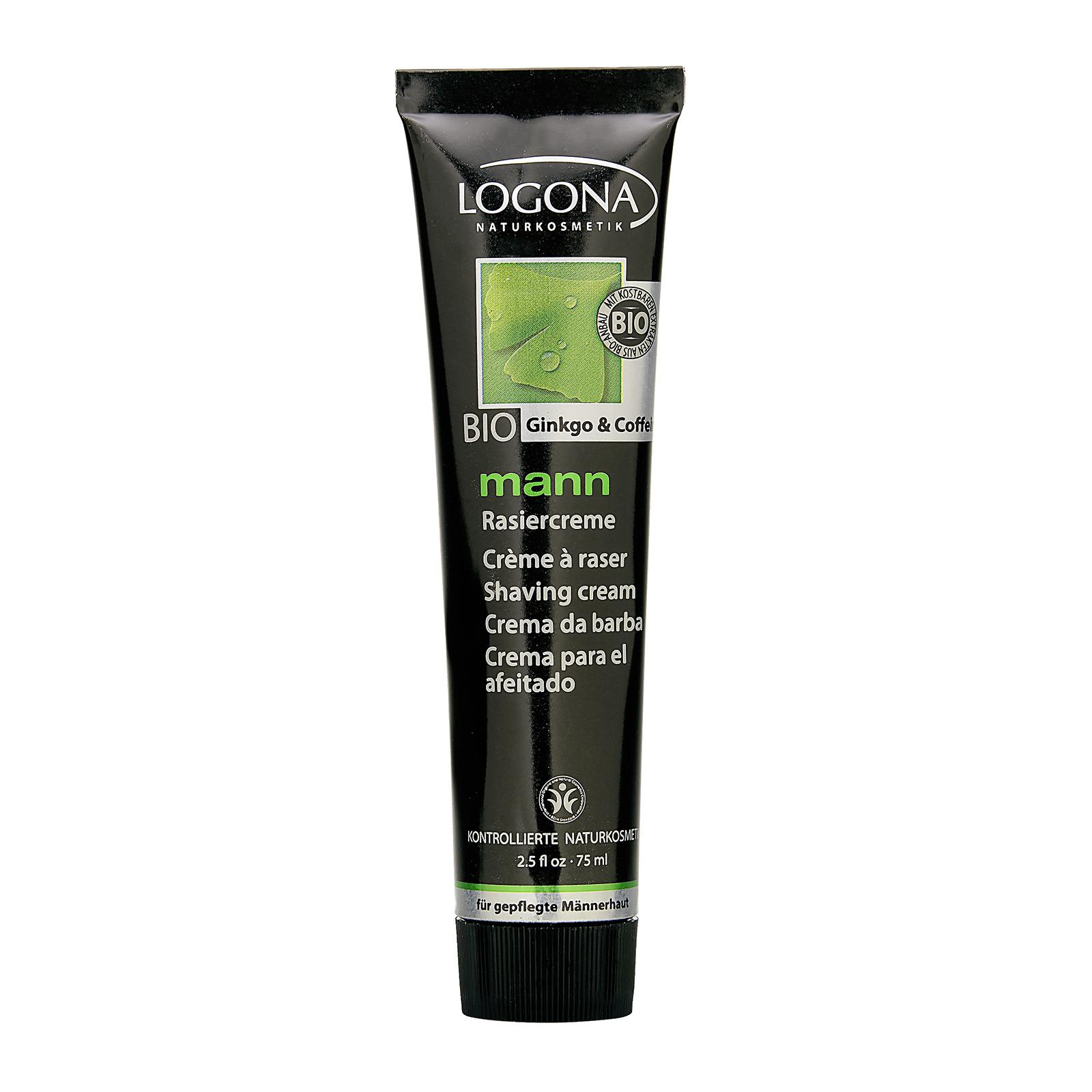 LOGONA Bio Ginkgo & Caffeine Man Shaving Cream 2.5oz, 75ml LGX0100155-000-00