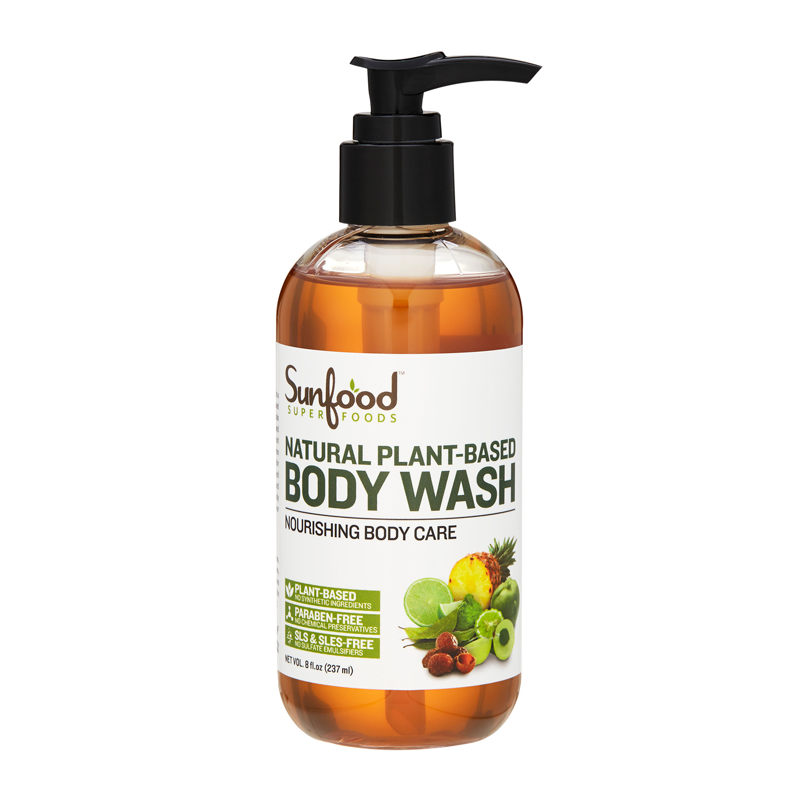 Sunfood  Natural Plant-based Body Wash (For All Skin Types) 8oz, 237ml